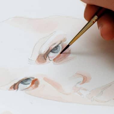 Tutoriel d'aquarelle : Comment peindre un regard pas à pas.