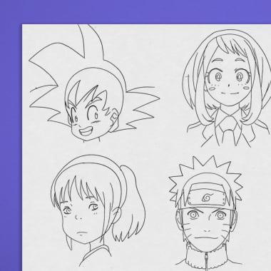 Tutorial Anime: proporções de rosto para iniciantes