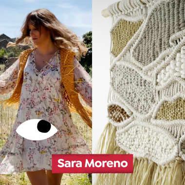 Conheça a arte têxtil de Sara Moreno, no Diários Domestika