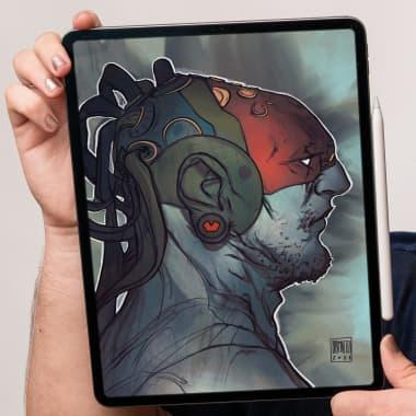 Tutorial Procreate: como desenhar o Frankenstein
