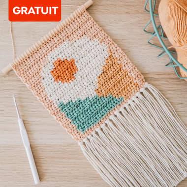 Téléchargez gratuitement un modèle de crochet intarsia pour créer une tapisserie murale