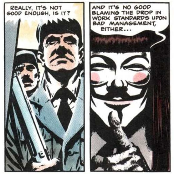 """El origen de la máscara de """"V de Vendetta"""""""