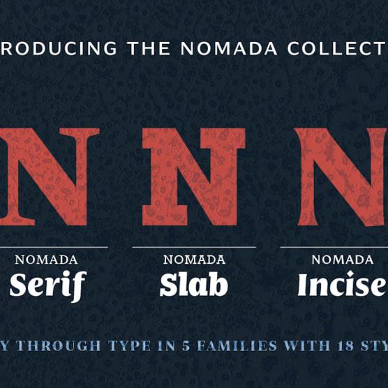 Nomada: una tipografía en movimiento