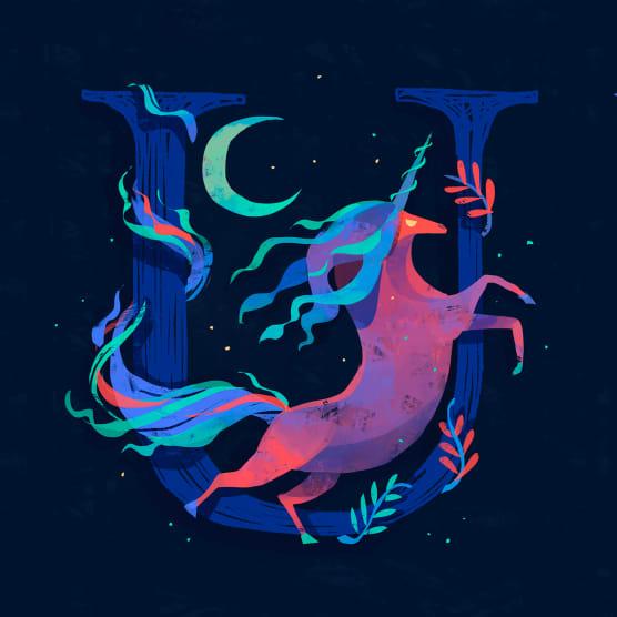 Chaaya Prabhat, ilustrando un nuevo alfabeto con animales mitológicos