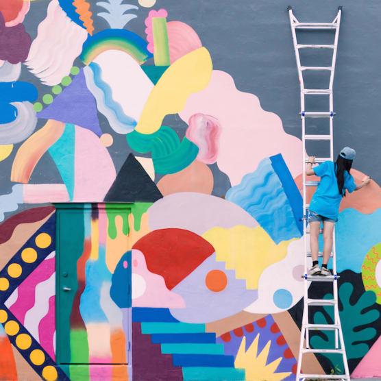 La energía en el arte urbano tiene nombre: Mina Hamada