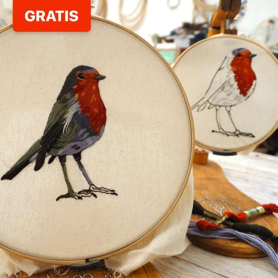 """Comienza a """"pintar"""" con hilo con estos patrones de bordado de Gimena Romero"""
