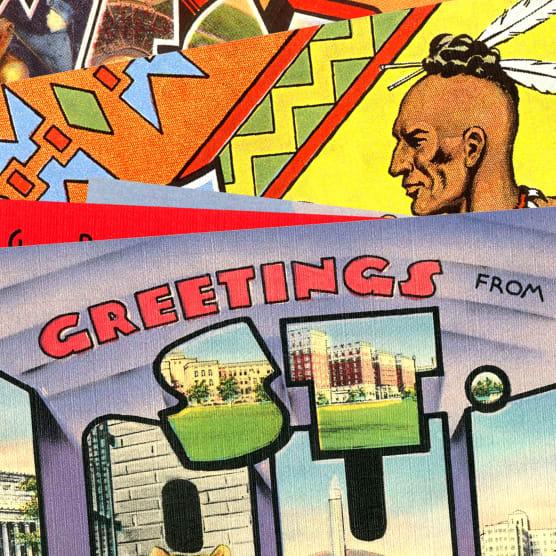 Cómo el diseño de postales puso color a los EEUU de los años 30