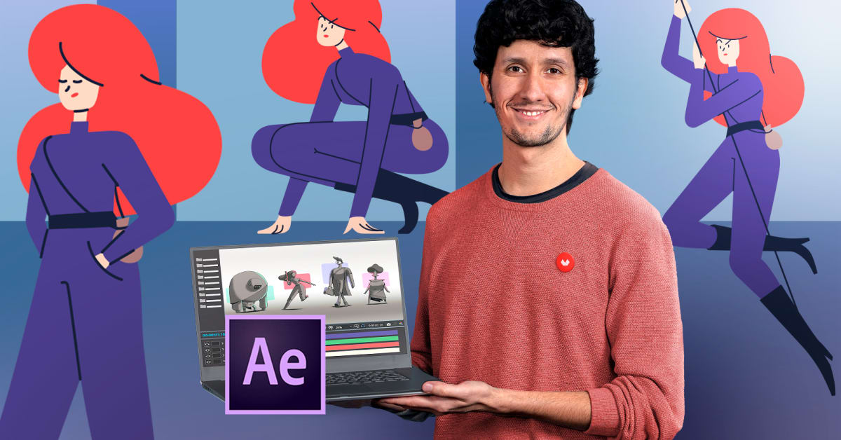 Vectorial Animation Frame by Frame Style with After Effects