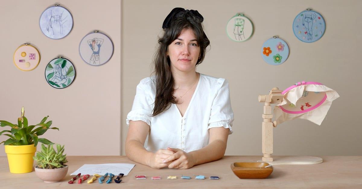 Figurative Fashion Embroidery with Needle Felting