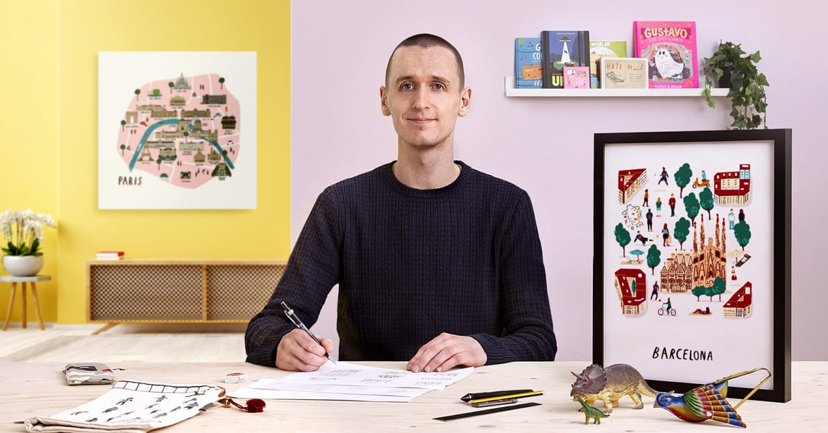 Colorful City Portraits: Illustrate Your Favorite Place - Illustration online course