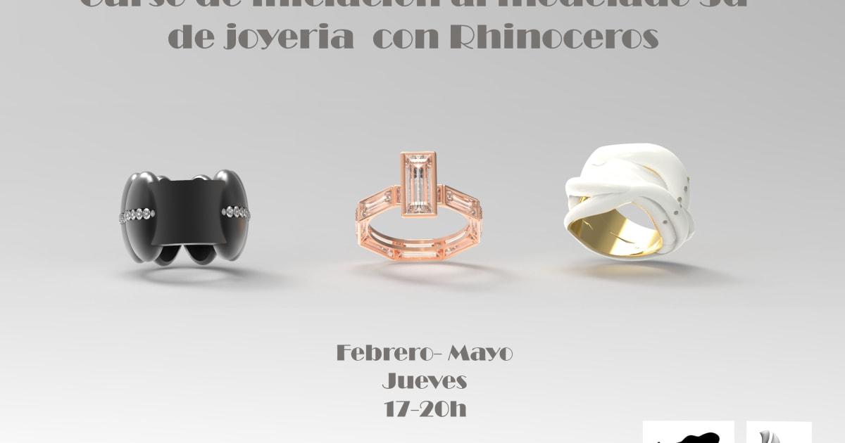 9a18ff497112 Curso de iniciación al modelado 3D de joyería con Rhinoceros