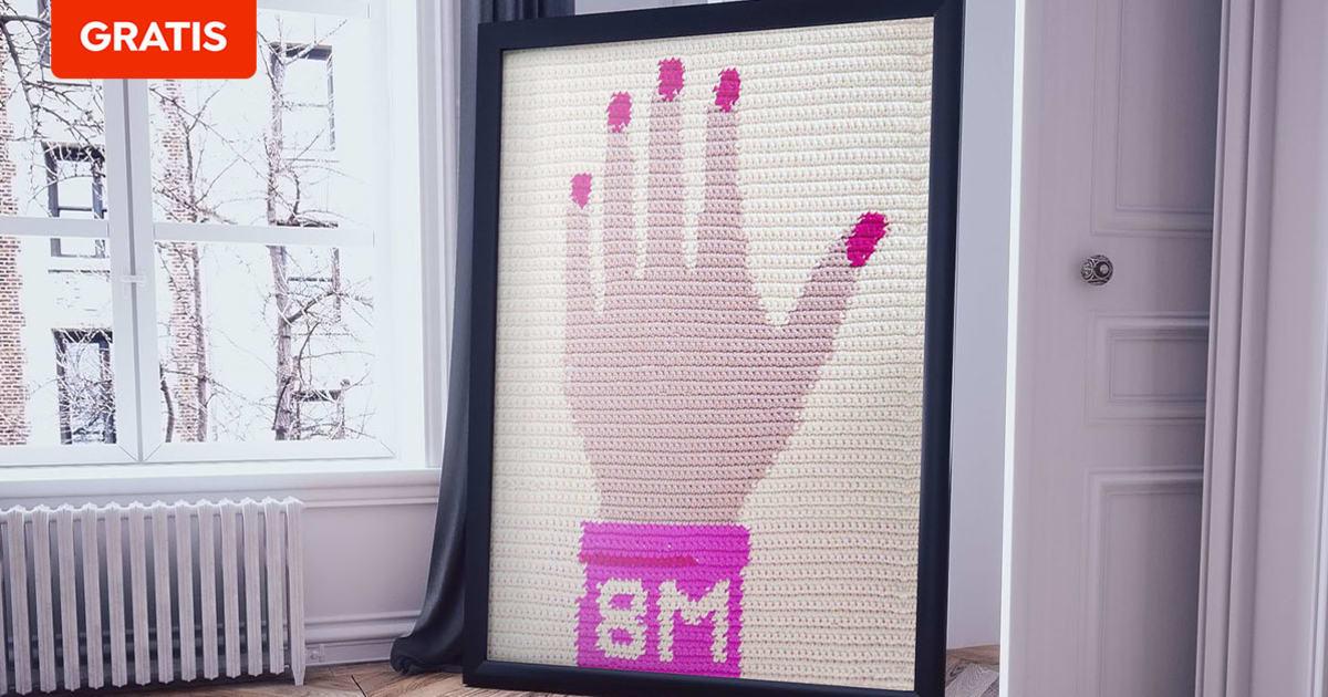 Descarga gratis un patrón para tejer una mano alzada para el 8M   Blog   Domestika