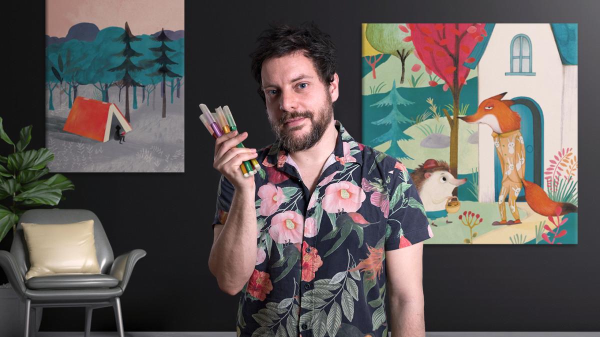Introduzione all'illustrazione infantile (Adolfo Serra). Corso online    Domestika