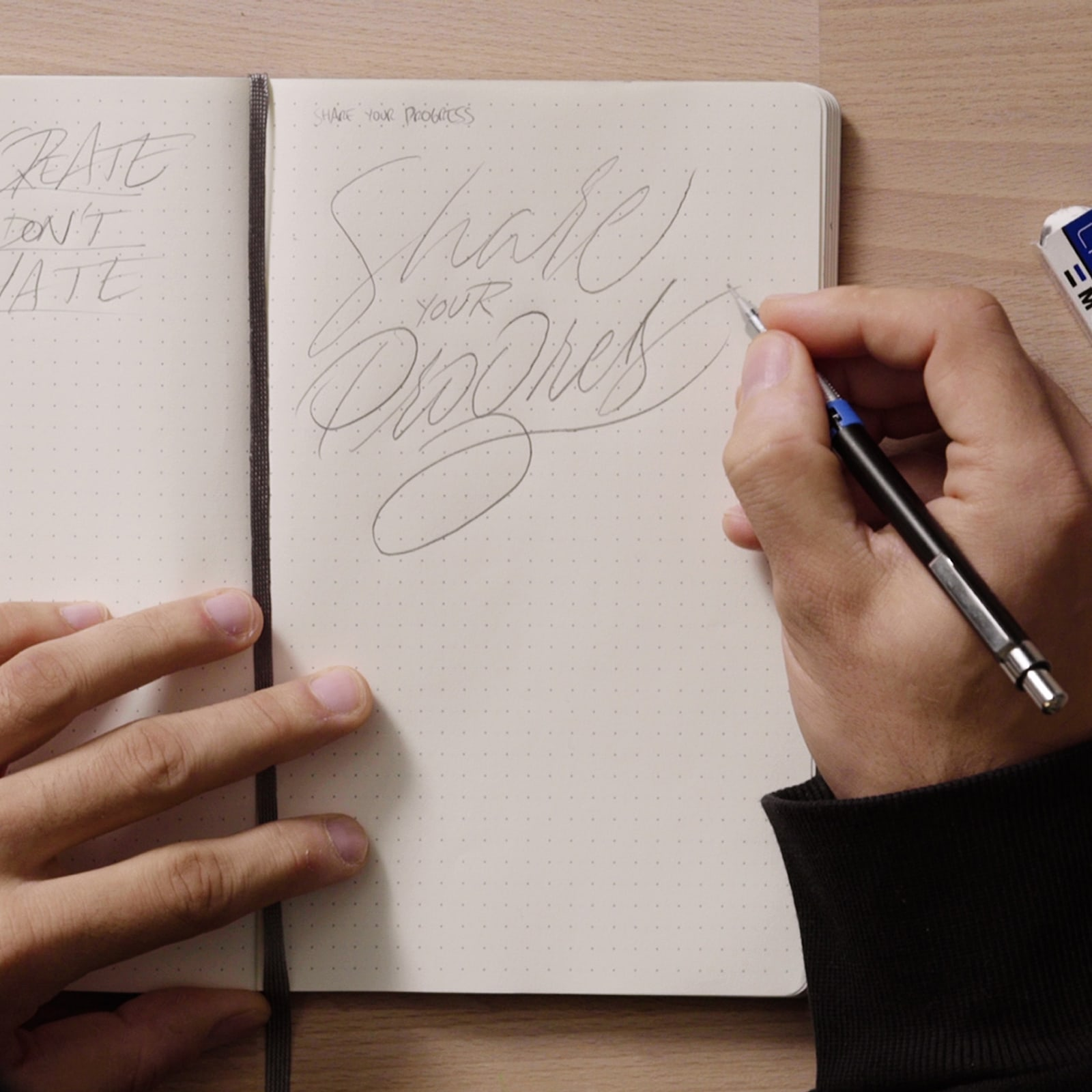 Tutorial Lettering: como criar um sketchbook de ideias