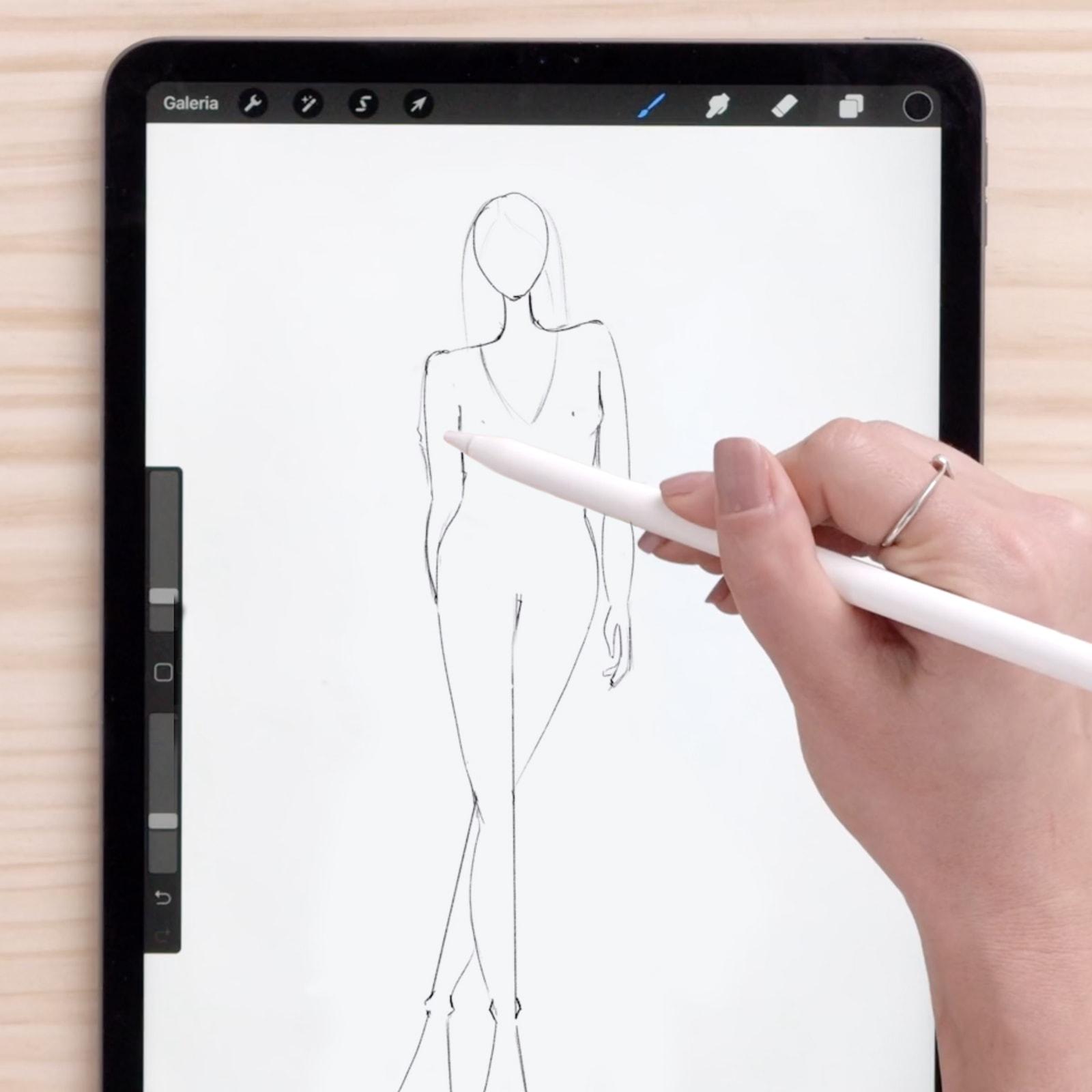 Tutorial Procreate: como fazer um croqui de moda no iPad