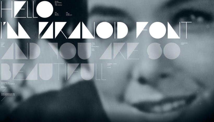 Paranoid font (free) 1