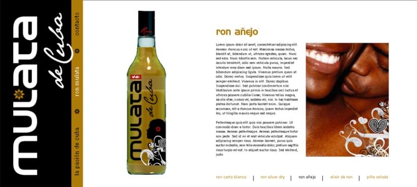 Ron Mulata y Santero, packaging y marca 9
