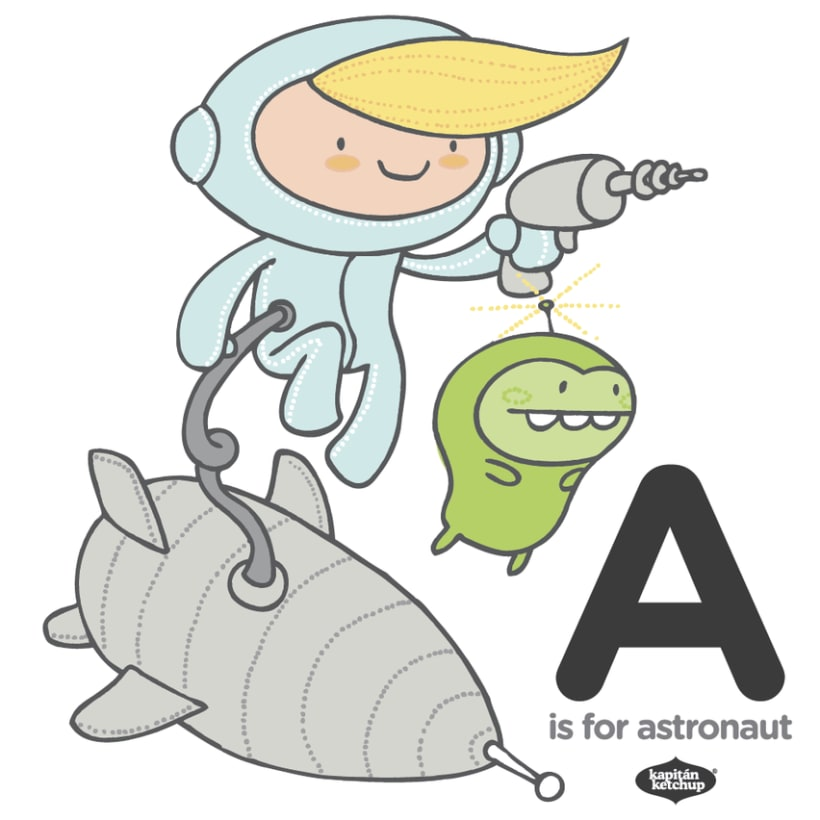 a is for astronaut 1