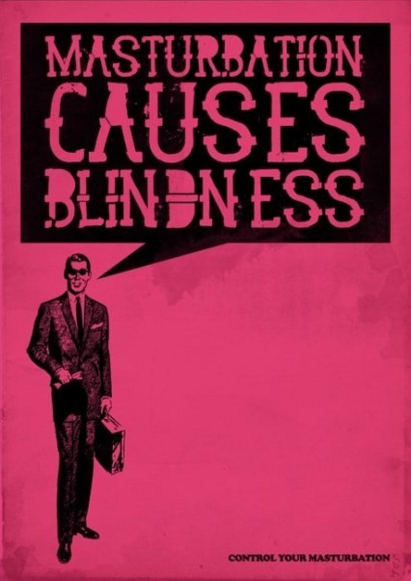 Blindness from masturbation