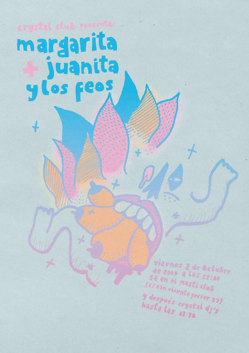 Cartel Margarita + Juanita y los Feos 1