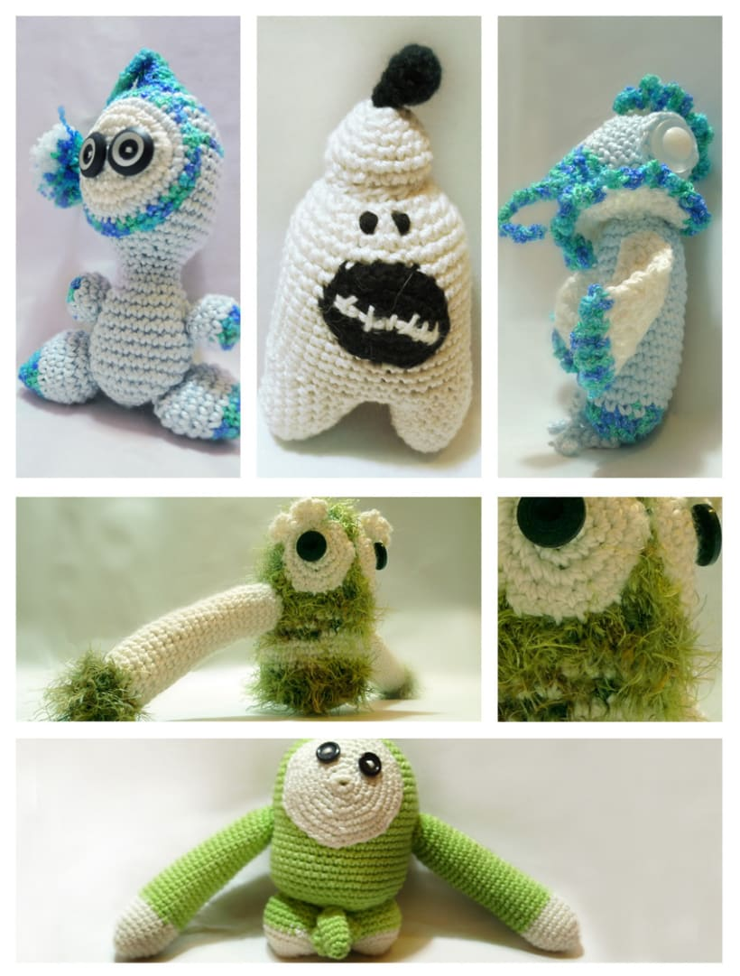 Monstruos (crochet) 1