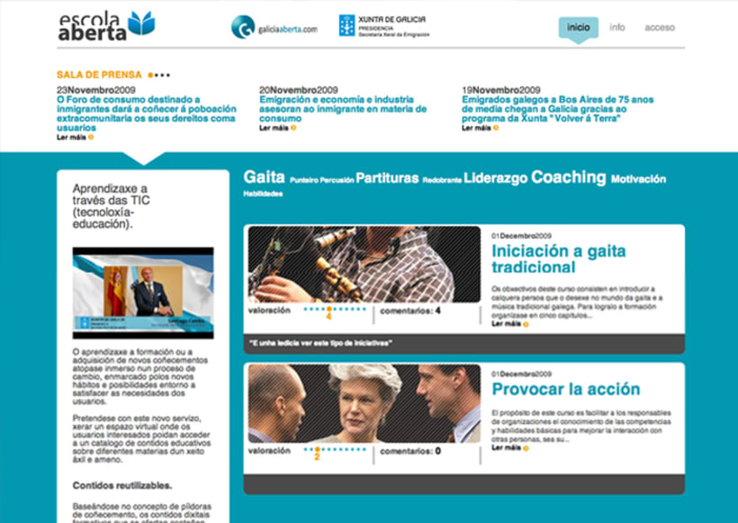 Escola Aberta, portal e-learning 3