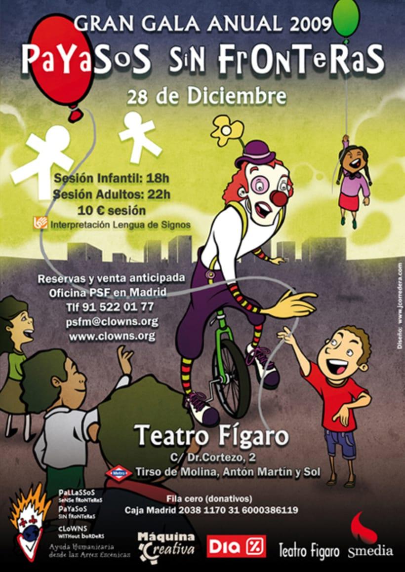 CARTEL gala 2009 Payasos Sin Fronteras 1