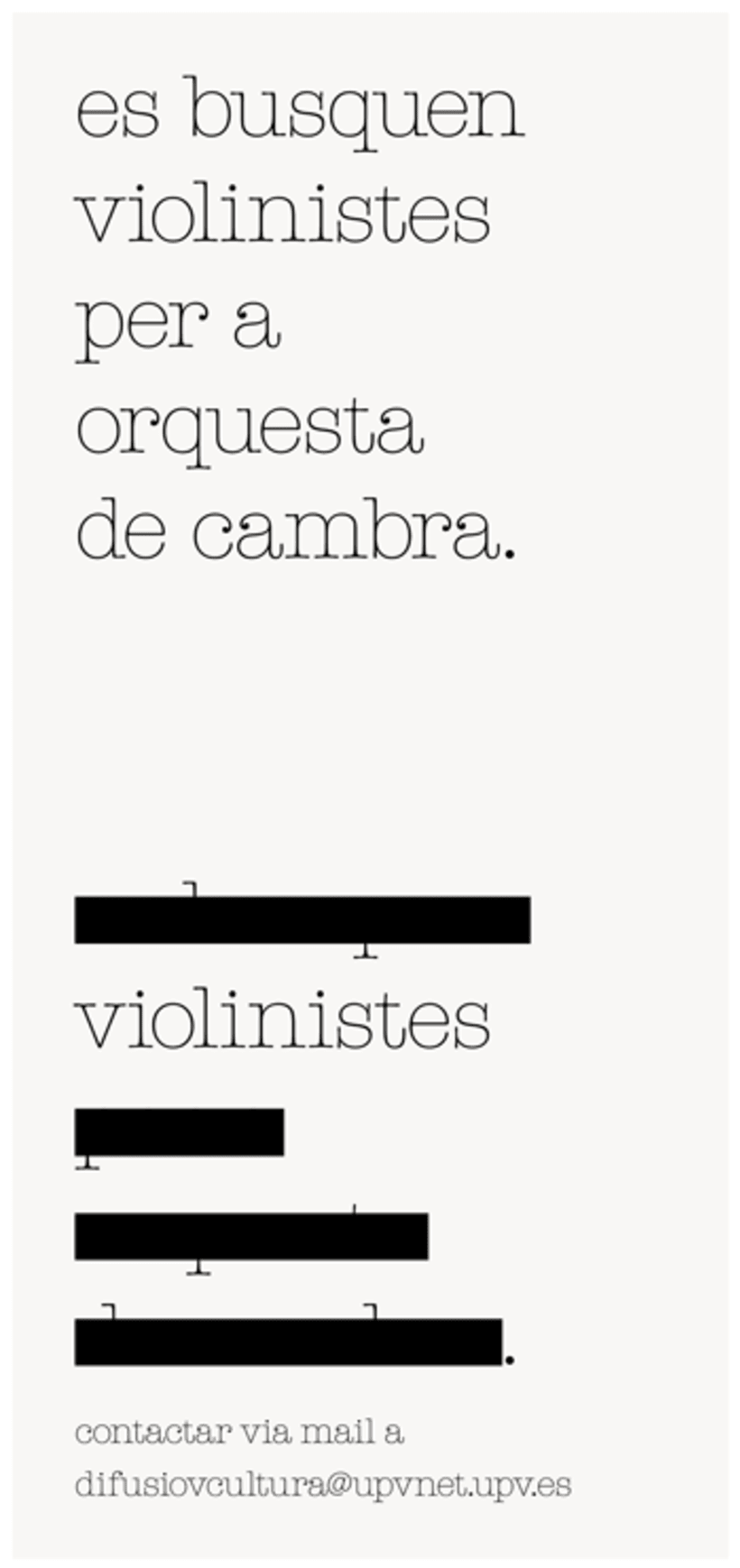 Violinistes, UPV 2