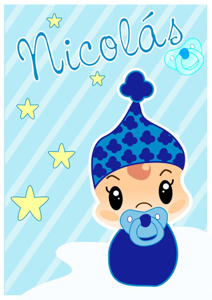 Ilustraciones personalizadas de bebes 3