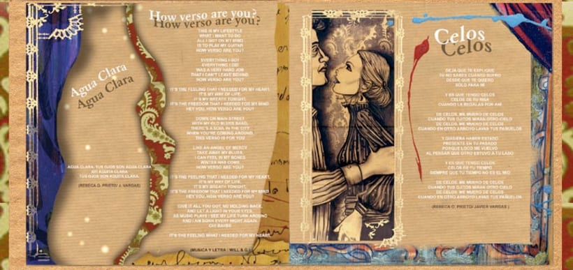 """Diseño e ilustración de Disco """"Love, union, peace"""" de la Vargas Blues Band. 3"""