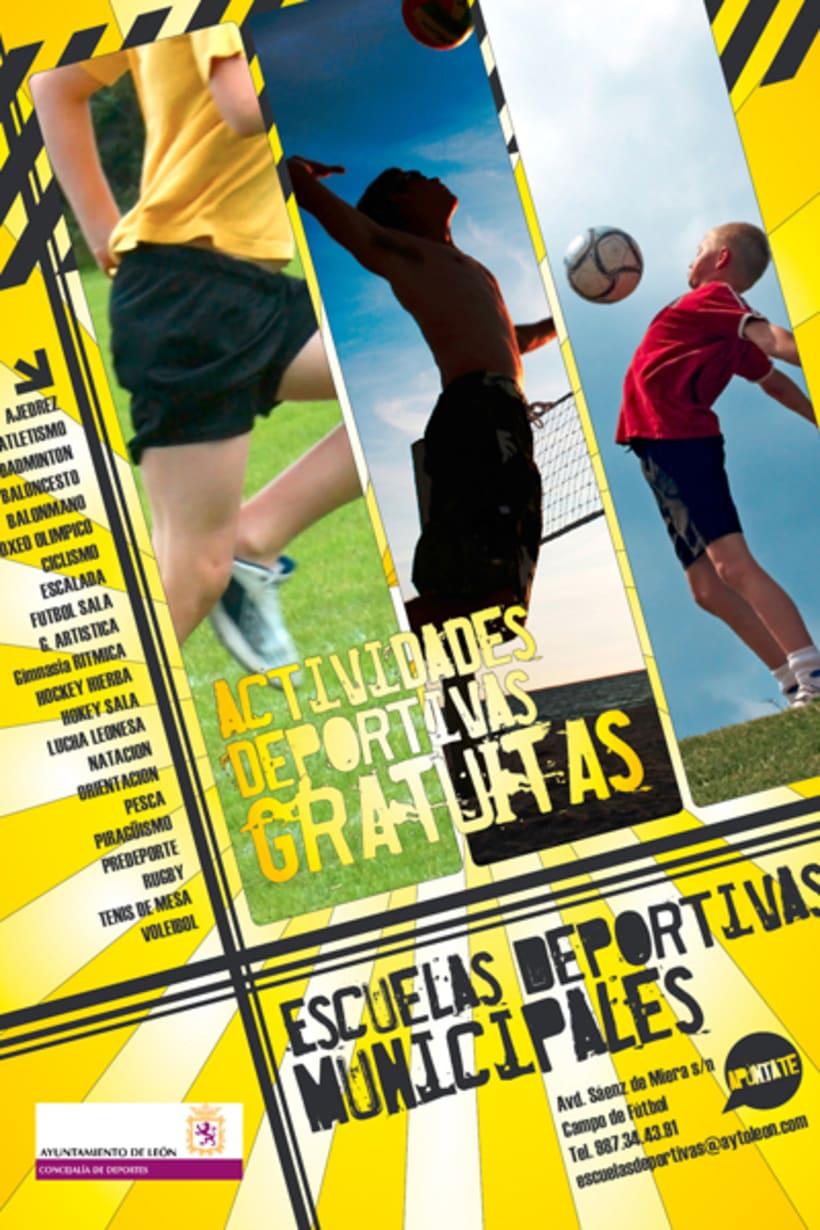 Cartel Escuelas deportivas 1