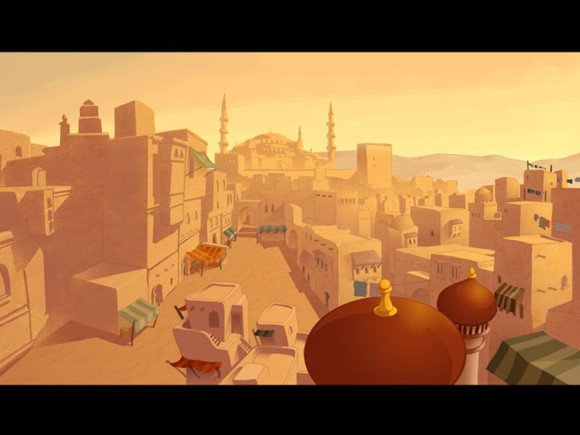Ilustración para escenario  de animación 1