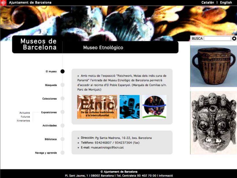 Web museos de Barcelona 3