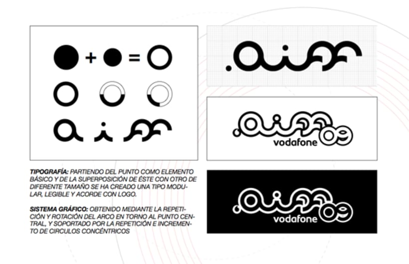 Identidad corporativa festival vodafone.aiff'09 1