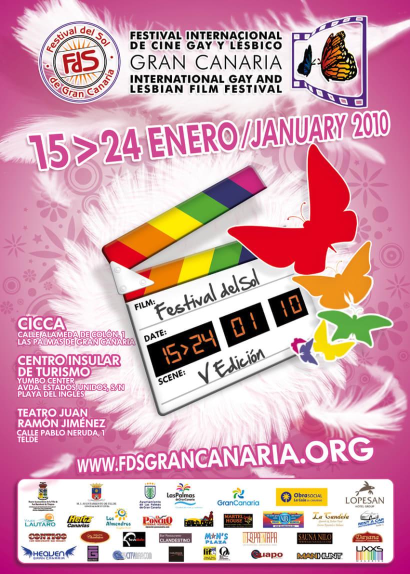 Concepto Gráfico - Festival Internacional de Cine Gay y Lésbico de Canarias 2010 2