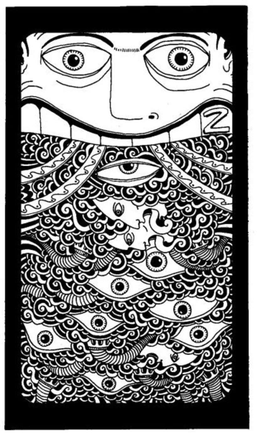 dibujos sobre papel en blanco y negro 12