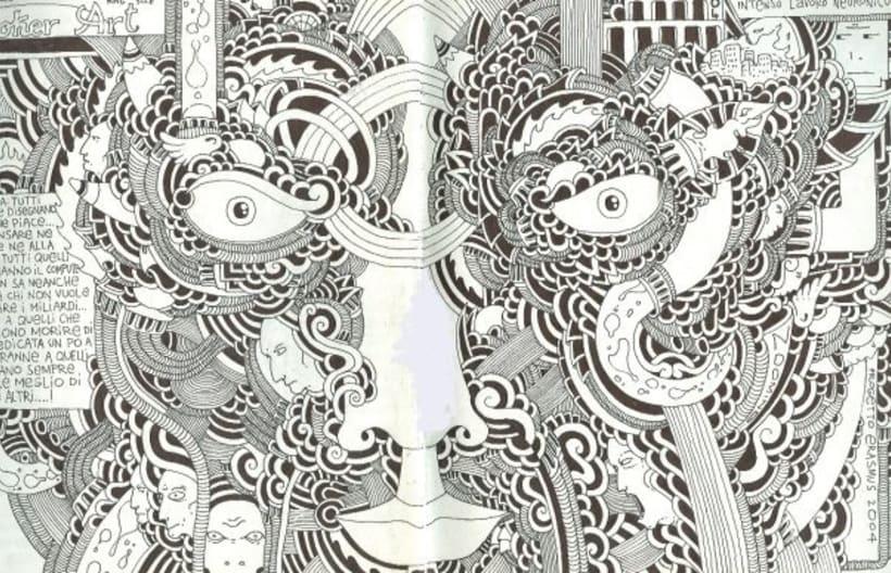 dibujos sobre papel en blanco y negro 11