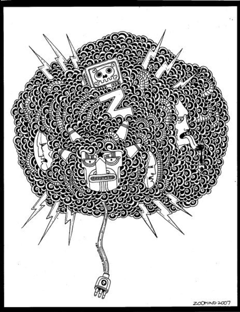 dibujos sobre papel en blanco y negro 10