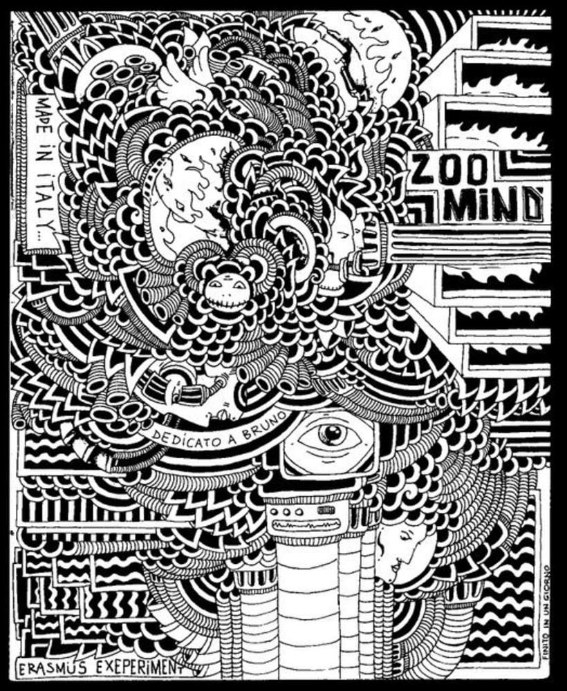dibujos sobre papel en blanco y negro 9