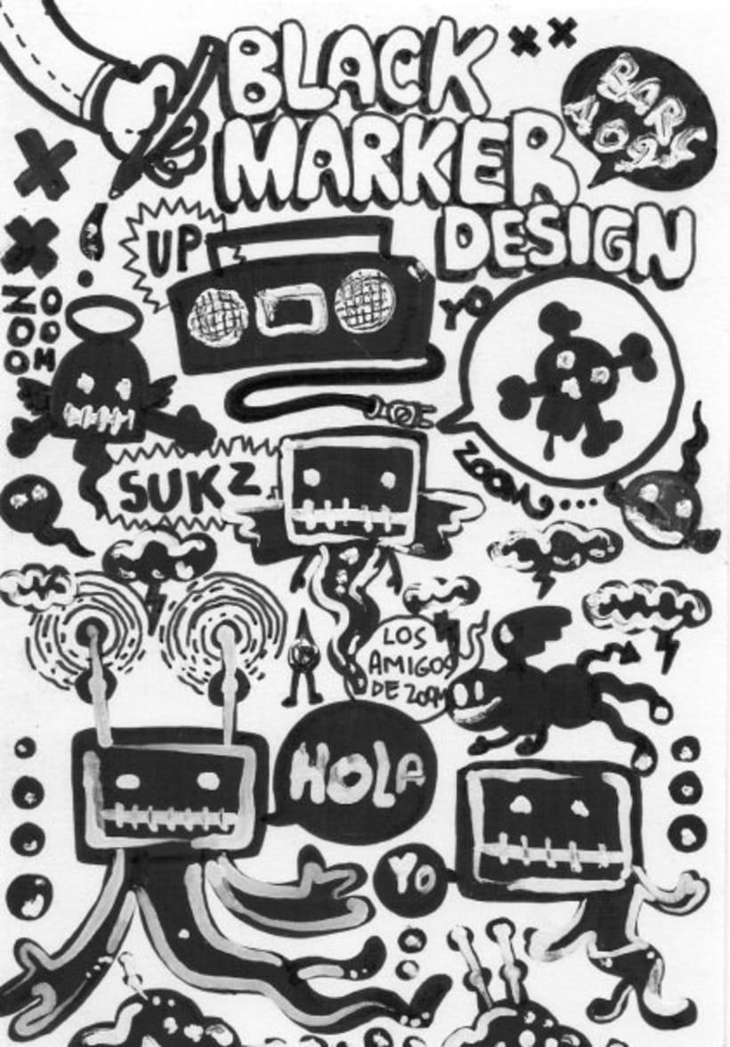 dibujos sobre papel en blanco y negro 7