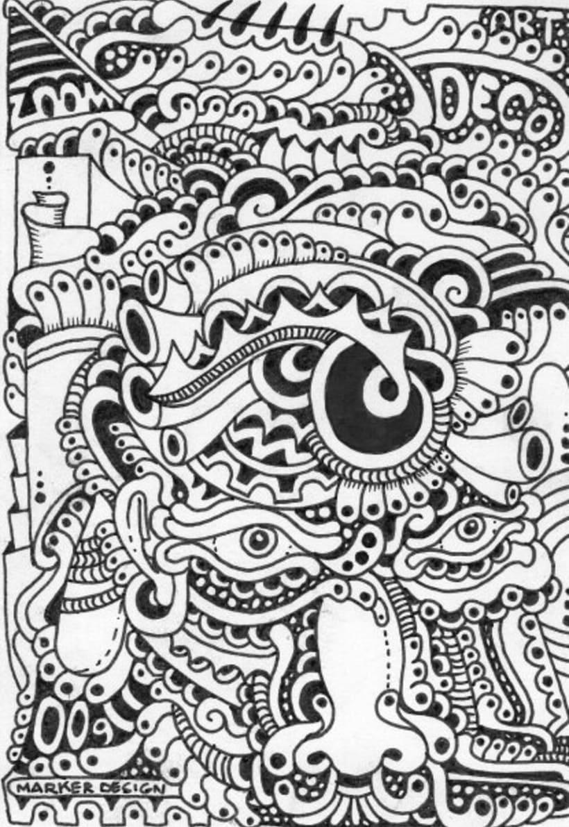 Dibujos sobre papel en blanco y negro domestika for Papel pintado blanco y negro