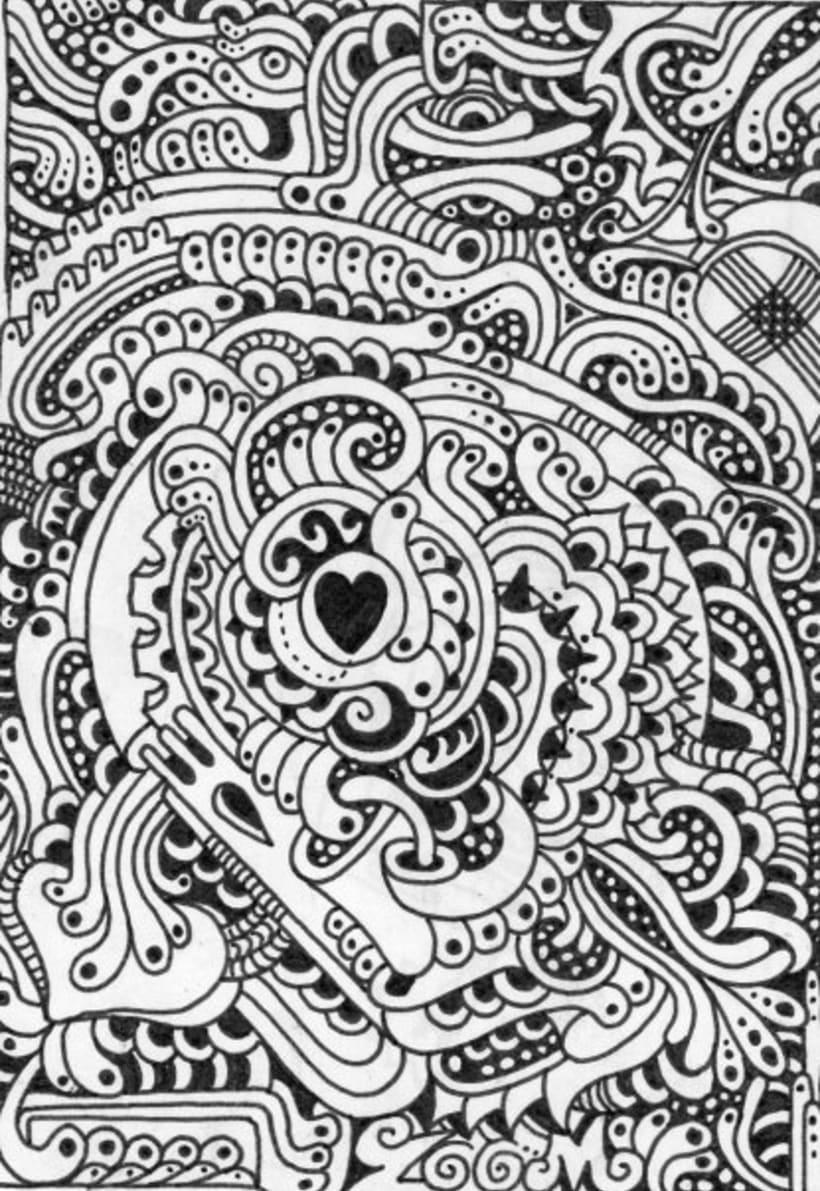 dibujos sobre papel en blanco y negro 4