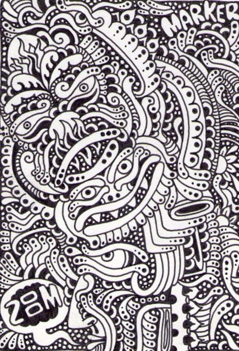 Dibujos sobre papel en blanco y negro domestika - Blanco y negro paint ...