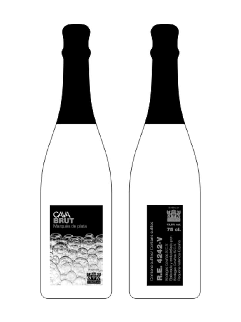 Concurso de Diseño de Etiquetas Contraetiquetas y Cápsulas para Cava BODEGAS COVIÑAS S.C.V. 1