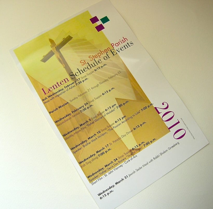 Schedule of Lenten Events 2