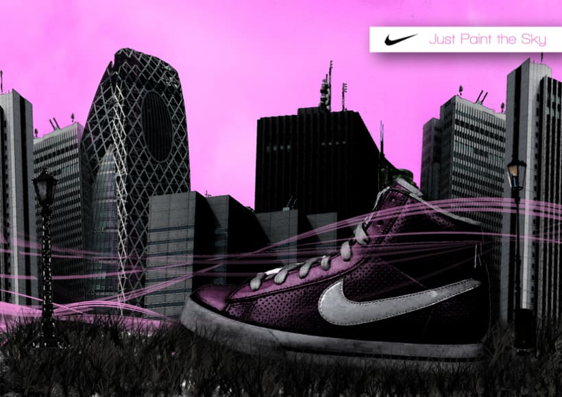 Nike 'Just paint de sky' 1