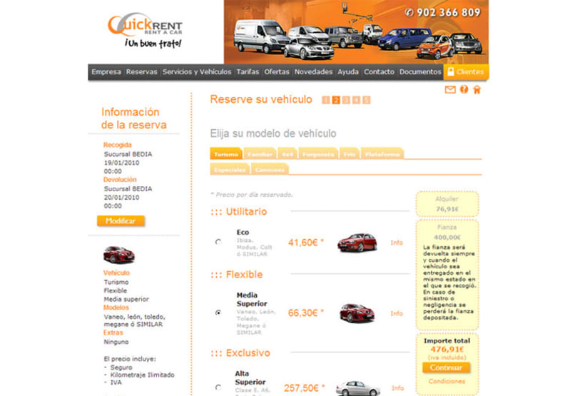 Web E-commerce Quick Rent 3