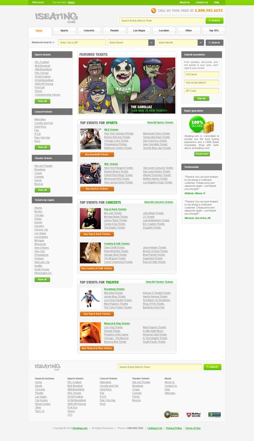 iSeating.com layout 1