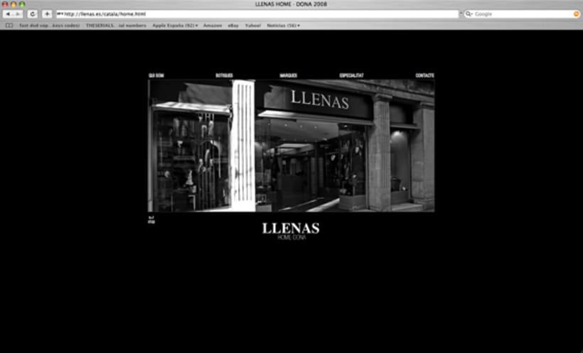 web Llenas, boutique moda.Bcn. 1