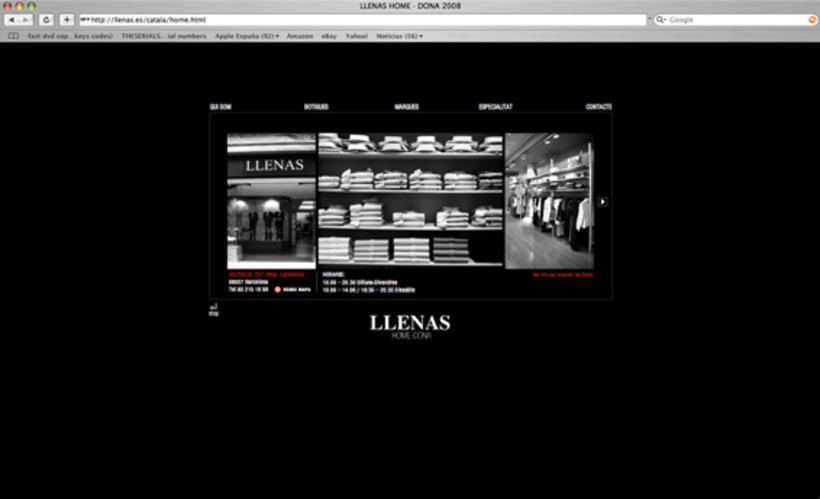 web Llenas, boutique moda.Bcn. 2
